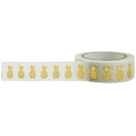 Little B - Decorative Paper Tape - Gold Foil Pineapple - 15mm
