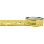 Little B - Decorative Paper Tape - Gold Foil Happy Birthday - 15mm