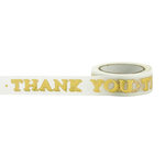 Little B - Decorative Paper Tape - Gold Foil Thank You - 15mm