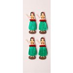 Little B - 3 Dimensional Stickers - Mini - Hula Girl