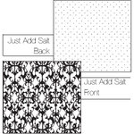 Luxe Designs Inc. - Classic Black Collection - 12x12 Double Sided Paper - Just Add Salt