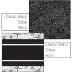 Luxe Designs Inc. - Classic Black Collection - 12x12 Double Sided Paper - Classic Black Stripe