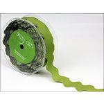 May Arts - Designer Ribbon - Grosgrain Ric Rac - Olive - 30 Yards