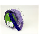 May Arts - Designer Ribbon - Diamond Stitched - Purple and Light Purple - 25 Yards