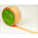May Arts - Designer Ribbon - Twill Stripes - Orange - 30 Yards