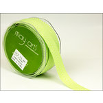 May Arts - Designer Ribbon - Twill Stripes - Celery - 30 Yards