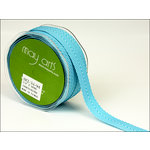 May Arts - Designer Ribbon - Twill Stripes - Turquoise - 30 Yards