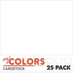 My Colors Cardstock - My Mind's Eye - 12 x 12 Classic Cardstock Pack - White