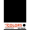 My Colors Cardstock - My Mind's Eye - 8.5 x 11 Classic Cardstock Pack - New Black
