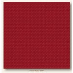 My Colors Cardstock - My Mind's Eye - 12 x 12 Mini Dots Cardstock - Crimson Beauty