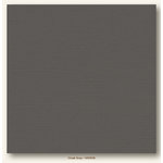 My Colors Cardstock - My Mind's Eye - 12 x 12 Canvas Cardstock - Cloak Gray