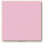 My Colors Cardstock - My Mind's Eye - 12 x 12 Canvas Cardstock - Pale Blossom