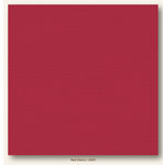 My Colors Cardstock - My Mind's Eye - 12 x 12 Canvas Cardstock - Red Cherry