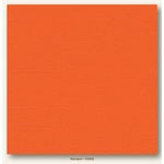 My Colors Cardstock - My Mind's Eye - 12 x 12 Canvas Cardstock - Mandarin