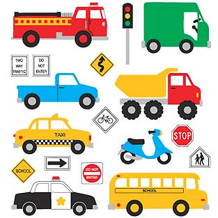 Mrs. Grossman's - Creative Kids Collection - Extravagant Stickers - Vehicles