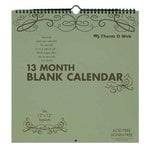 Therm O Web - 12 x 12 Calendar - Blank 13 Month Do It Yourself