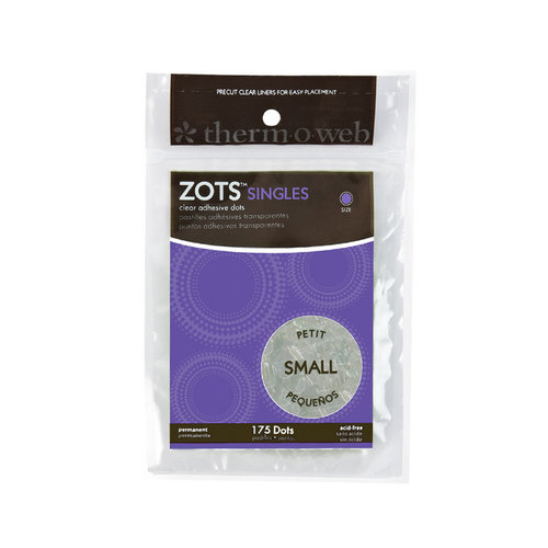 Therm O Web - Memory Zots - Clear Adhesive Dots - Singles Small