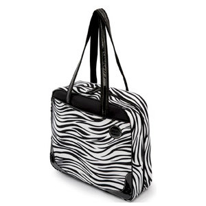 MiMi - Oasis Collection - Travelmate Scrap Tote - Zebra Print Microfiber