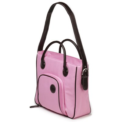 Mimi - DigiScrap Laptop Tote - Pink and Chocolate