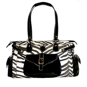 MiMi - Oasis Collection - Designer DSLR Camera Bag - Zebra Print