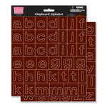 My Little Shoebox - Chipboard Stickers - Alphabet - Mocha, CLEARANCE