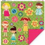 My Little Shoebox - Cute As a Button Collection - 12 x 12 Double Sided Paper - JeaMi