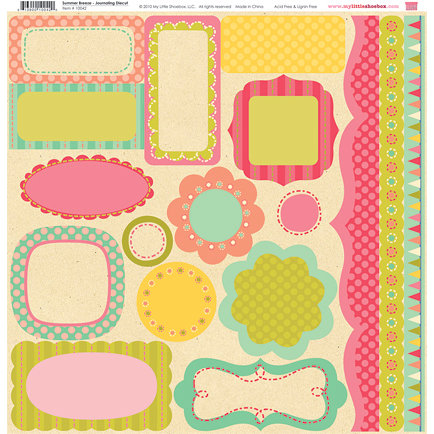 My Little Shoebox - Summer Breeze Collection - 12 x 12 Journaling Die Cuts