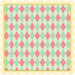 My Little Shoebox - Summer Breeze Collection - 12 x 12 Die Cut Paper - Fresh Linen