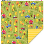 My Little Shoebox - Simple Life Collection - 12 x 12 Double Sided Paper - Country Road