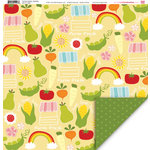My Little Shoebox - Farmers Market Collection - 12 x 12 Double Sided Paper - Berkeley, BRAND NEW