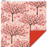 My Little Shoebox - Oasis Collection - 12 x 12 Double Sided Paper - Pink Blossom