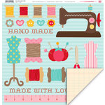 My Little Shoebox - Sew Cute Collection - 12 x 12 Double Sided Paper - Sew Crafty