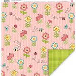 My Little Shoebox - Garden Party Collection - 12 x 12 Double Sided Paper - Sweet as Honey