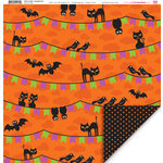 My Little Shoebox - Trick or Treat Collection - Halloween - 12 x 12 Double Sided Paper - Scaredy Cat