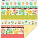 My Little Shoebox - Enchanted Garden Collection - 12 x 12 Double Sided Paper - Graceful