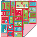 My Little Shoebox - Winter Wonderland Collection - 12 x 12 Double Sided Paper - Counting Down