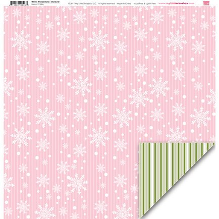 My Little Shoebox - Winter Wonderland Collection - 12 x 12 Double Sided Paper - Starburst