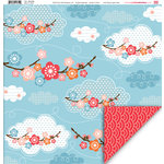 My Little Shoebox - Aiko Collection - 12 x 12 Double Sided Paper - Blue Sky