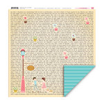 My Little Shoebox - Happy Go Lucky Collection - 12 x 12 Double Sided Paper - Love Notes