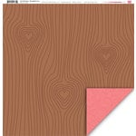 My Little Shoebox - Up In The Trees Collection - 12 x 12 Double Sided Paper - Woodgrain Love