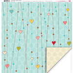 My Little Shoebox - Up In The Trees Collection - 12 x 12 Double Sided Paper - Heart On A String