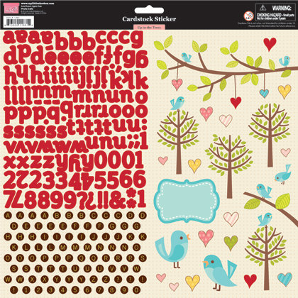 My Little Shoebox - Up In The Trees Collection - Cardstock Stickers