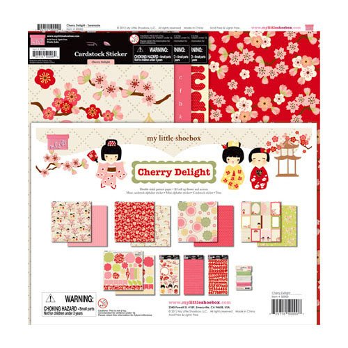 My Little Shoebox - Cherry Delight Collection - 12 x 12 Collection Kit