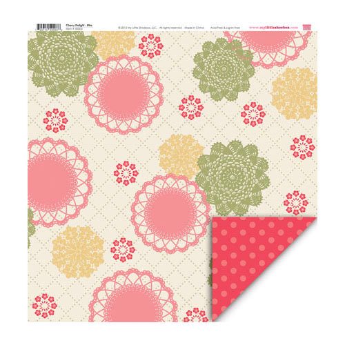 My Little Shoebox - Cherry Delight Collection - 12 x 12 Double Sided Paper - Bliss