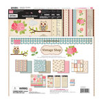 My Little Shoebox - Vintage Shop Collection - 12 x 12 Collection Kit