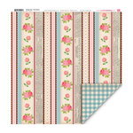 My Little Shoebox - Vintage Shop Collection - 12 x 12 Double Sided Paper - Rose Ribbon