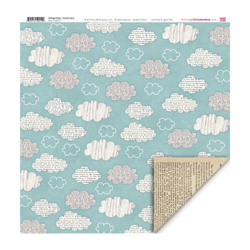My Little Shoebox - Vintage Shop Collection - 12 x 12 Double Sided Paper - French Lace