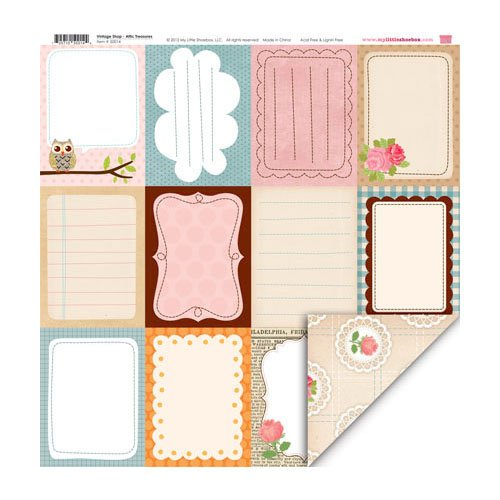 My Little Shoebox - Vintage Shop Collection - 12 x 12 Double Sided Paper - Attic Treasures