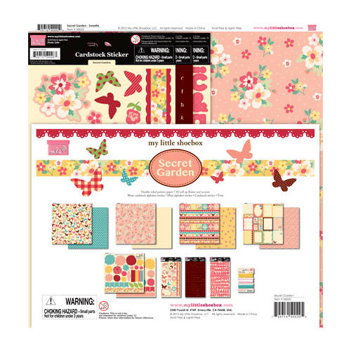 My Little Shoebox - Secret Garden Collection - 12 x 12 Collection Kit