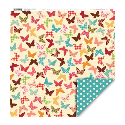 My Little Shoebox - Secret Garden Collection - 12 x 12 Double Sided Paper - Dorothy